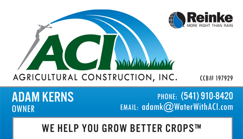 Agricultural Construction Business Card